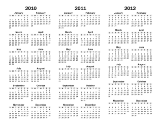 Year Printable Calendar - CalendarsQuick.com