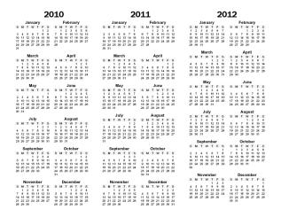 3 yr calendar printable