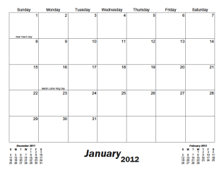month calendar in letter and a4 printing sizes with your choice of