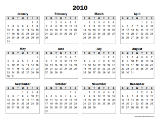 Large Yearly Calendar