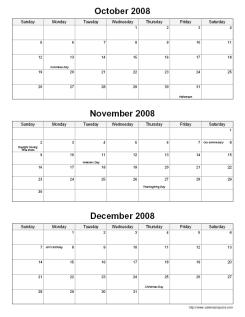 Printable Quarterly Calendar - CalendarsQuick
