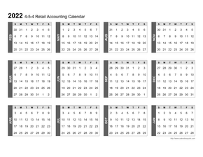 4-5-4 Retail Accounting Calendar