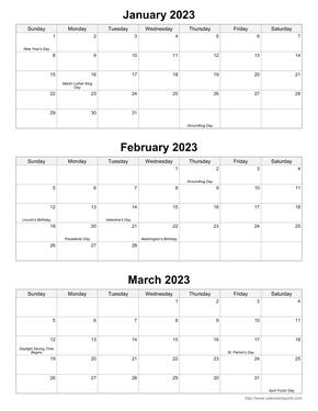 Quarterly Calendar 2020 Template Printable Monthly Calendars   CalendarsQuick