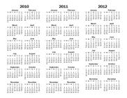 3 year printable calendar