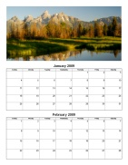 Bi-Monthly Photo Calendar
