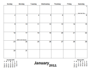A monthly calendar with bottom-aligned month title