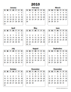 Superb Full Page Yearly Printable Calendar