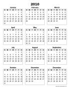 year calendar printable