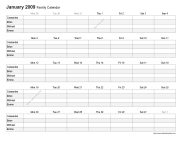 Rowed Monthly Family Printable Calendar