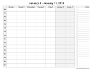 Printable Weekly Calendars - CalendarsQuick
