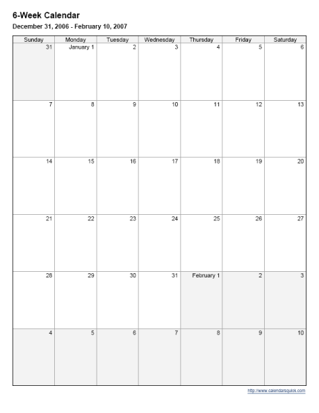 Week Calander | New Calendar Template Site