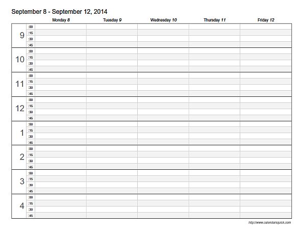 Appointment Scheduling Template - CalendarsQuick