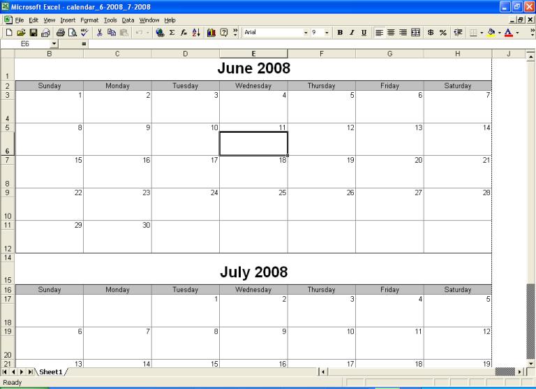 Printable Calendar Bimonthly | Calendar Template 2016