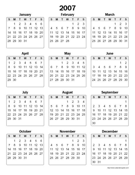 2016 Printable Strip Calendar | Calendar Template 2016